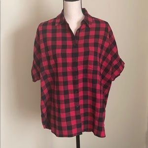 NWT Madewell Flannel Button Down Shirt Size L